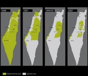 Landkarten-Palaestina-Israel-TahaMedia - Ausschnitt