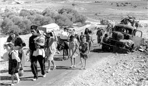 Palästinenser auf der Flucht während der Nakba 1947/1948