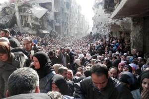 Palästinenser im Flüchtlingslager Yarmouk
