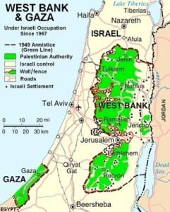 Palästina Landkarte