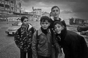 Kinder am Strand von Gaza